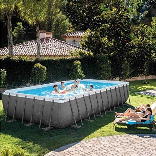 Intex 732 x 366 x 132 cm Ultra Frame Swimming Pool 26364 Set completo con accessori aggiuntivi come: vetro filtrante, materasso ad aria