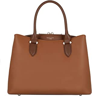 David Jones - Bolso de Mano Mujer - Bolso Bandolera Hombro Cuero PU Media - Satchel Tote Shopper Bag Elegante - Messenger ...
