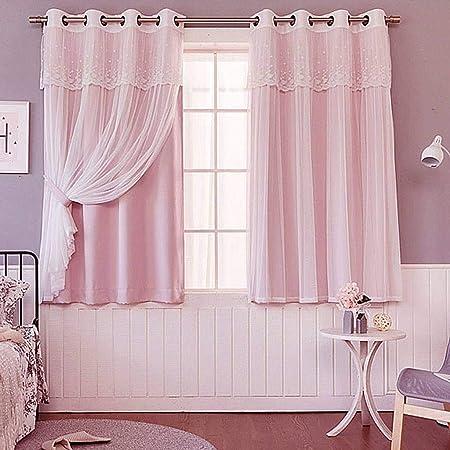 Pink Ösen Vorhänge Thermo Verdunklung Energie Sparen Ring Top Wohnzimmer Vorhang
