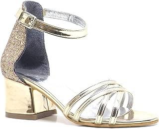 Gold Kalın Topuklu Kız Çocuk Abiye Ayakkabı