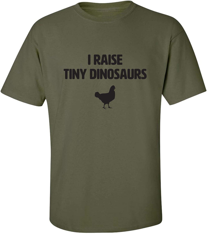 zerogravitee I Raise Tiny Dinosaurs Adult Short Sleeve T-Shirt
