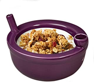 FashionCraft Roast and Toast Novelty Cereal Bowl (Purple)