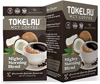 Tokelau Keto Coffee Packets with C8 MCT Oil Powder | Hit Ketosis & Burn Fat | Elevate Body & Brain Power | Rich, Smooth Flavor | Ketogenic Certified | Organic Ketogenic Coffee with Coconut Milk