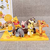 Modelo De Anime7Pcs / Set Anime Figura Winnie The Pooh Tigger Jouet Muñeca PVC Figuras De Acción...