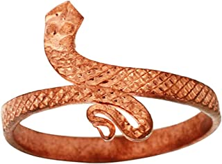 KESAR ZEMS Copper Snake Ring Provides The Fundamental Support Ring Free Size with Open End