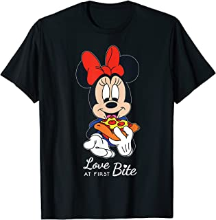 Disney Minnie Mouse Pizza Love at First Bite T-Shirt