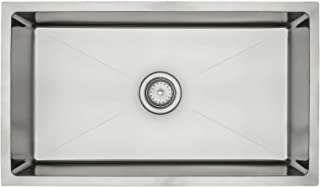 ZUHNE 31 Inch Tight Radius Under Mount Stainless Steel Pro Kitchen Sink For 33 Inch Cabinet (Single Bowl)