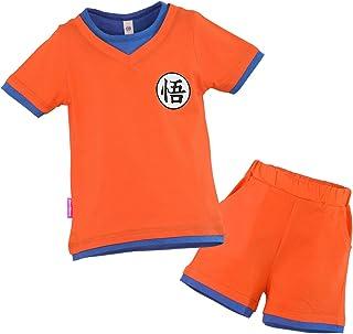 Niños Disfraz Camiseta T-Shirt Shorts para Bola del Dragón