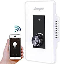 Smart Light Switch by JUOYOU,2.4Ghz WiFi Dimmer Switch Compatible with Alexa/Google Home,No Hub Required Easy and Safe Installation[Timer,Countdown,Group] Remote Control,1-Pack
