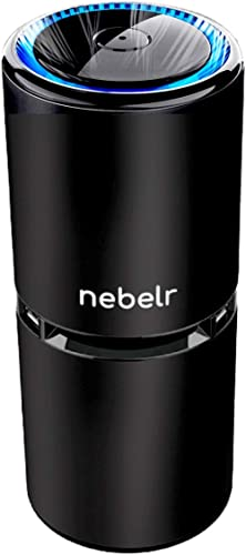 Nebelr Car Air Purifier Ionizer - 10 Million Negative Ions - Kills 99.9% Viruses - Removes PM2.5 & Dust - Designed in...