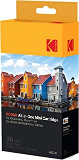 Kodak–Cartucho Mc impresión fotográfica mini todo en uno tinta y papel lote de 30 compatible con cámara Mini Shot impresora Mini 2