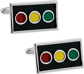 交通信号機 信号 カフス カフスボタン カフリンクス n00046