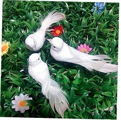 1pc Mini Artificial Palomas Adornos Miniatura del Pájaro del Jardín Crafts Espuma Decoración De La Boda del Partido De Palomas Decorativo