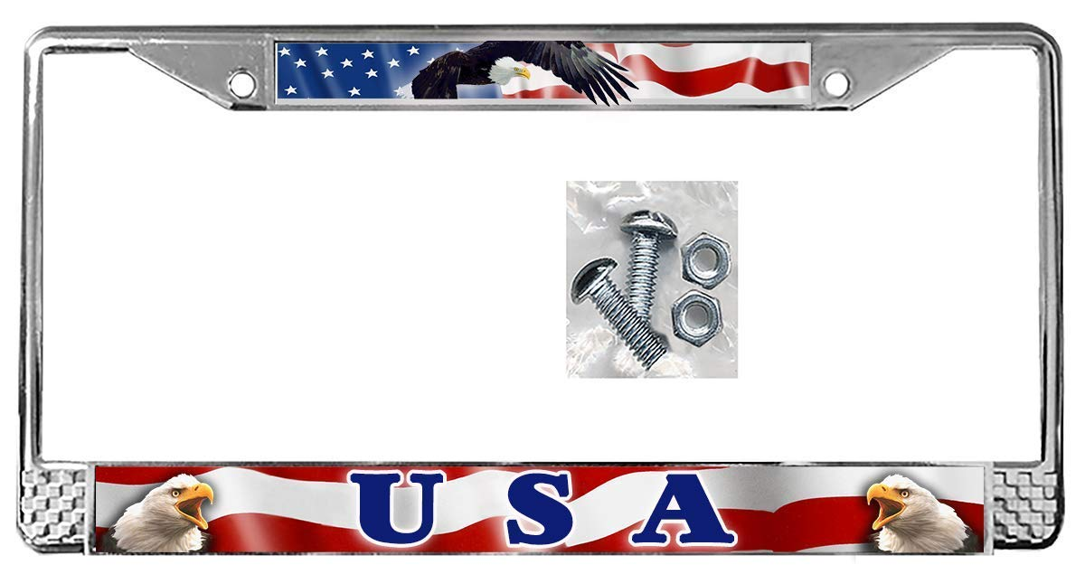 USA American Flag Eagles Auto License Outlet ☆ Free Shipping Plate Personalize Gi Frame Selling and selling