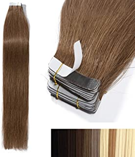 Tape In Virgin Human Hair Extensions 100% Remy Human Hair 20 pieces x 4 cm wide Human Hair 18