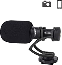 Comica CVM-VM10IIB Camera Microphone Directional Condenser Shotgun Video Microphone for Canon,Nikon,Sony,Panasonic,Olympus 3.5 mm Cameras,Smartphones(with Wind Muff)