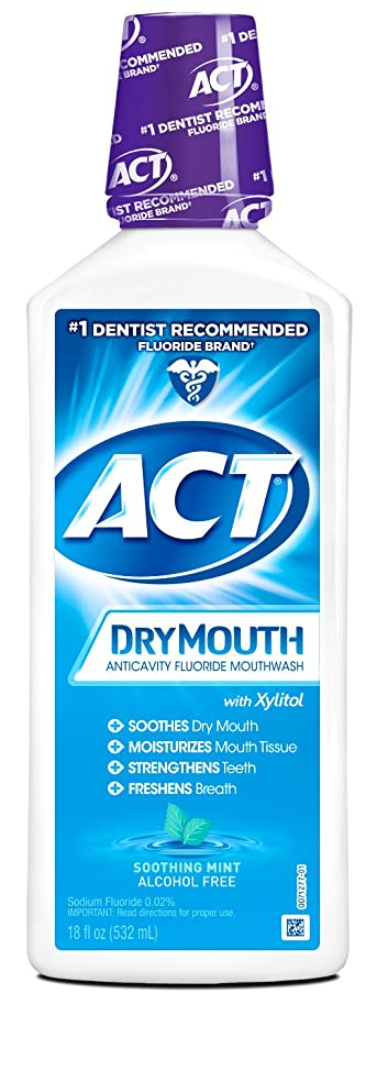 ACT Total Care Dry Soothing Mouthwash, Mint, 18 Ounce