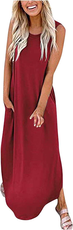 Gerichy Summer Dresses for Women Womens Dress Casual Loose Tie Dye Maxi Dress Sundress Beach Party Dress with Pockets