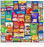 Blue Ribbon Care Package (45 Count) Ultimate Sampler Mixed Bulk Bars Cookies, Chips, Candy Snacks Variety Box Pack Office Schools Family Military Treats College Students Mothers Day Gift Basket