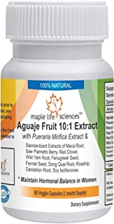 Aguaje Fruit 10:1 Extract Blend - 500mg - 60 Vegan Capsules - Maintains Hormonal Balance in Women