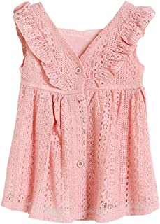 Fairy Baby Baby Girls Princess Dress Lace Ruffle Summer Sundress Kids Button Party Dress