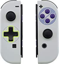 eXtremeRate Classics SNES Style Soft Touch Joycon Handheld Controller Housing (D-Pad Version) with Full Set Buttons, DIY R...