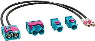 """ACV 1524-25 antenneadapter set""""Double FAKRA (W) > 1x dubbel/2x enkel"""" meerkleurig"""