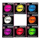 Moon Glow -Neon-UV-Haarkreide3.5gSet mit 8 Farben–ein spektakulär glühender Effekt bei