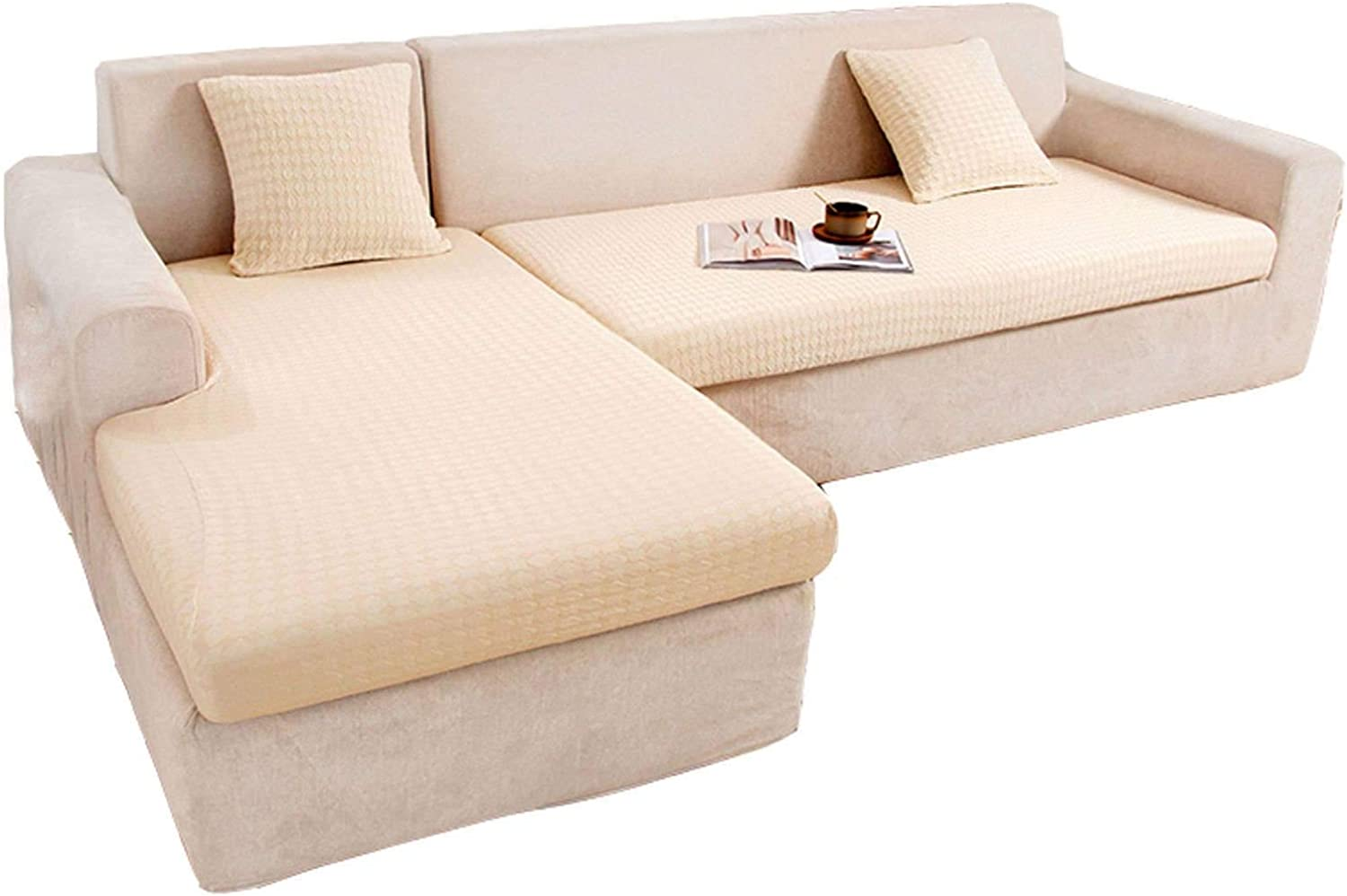 HUOLEO Stretch Couch Cushion Cover 値下げ Seat L 期間限定今なら送料無料 Shaped