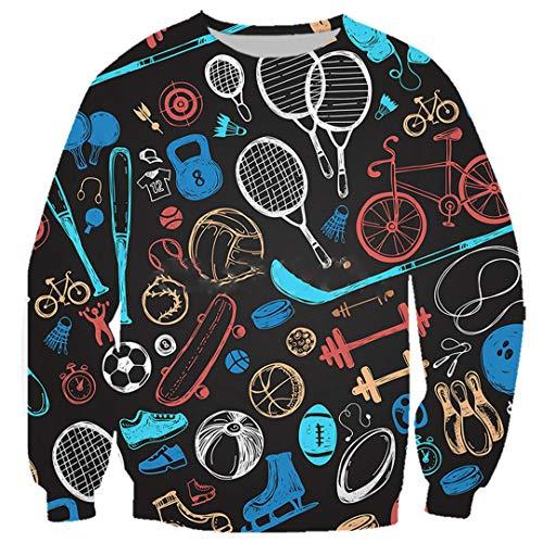 Badminton-T-Shirt Männer Frauen 3D-Druck-Fußball Sweatshirt Mode Jogging-Hosen-Klage Sweatshirt 5 M
