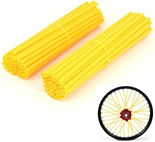 JFG RACING 72 Pcs Yellow Motorcycle Spoke Covers Guards For 19
