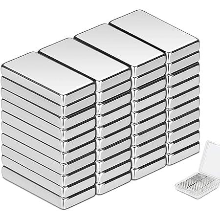 Wukong 40 Pièce Aimant Neodyme Carré,20x10x3 mm Premium Puissant aimants pour Réfrigérateur, Tableaux Magnétiques, Arts l'artisanat Loisirs et organi