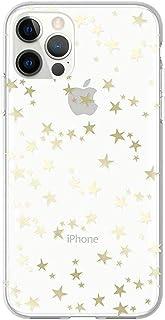 Wingcases Compatible con iPhone 12 Pro MAX Fundas, Diseño cristalino con Lindas Estrellas Doradas Carcasa Delgada Delgada ...