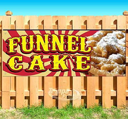 Funnel Max 86% OFF Cake 13 oz Bargain Banner Single- Vinyl Non-Fabric Heavy-Duty