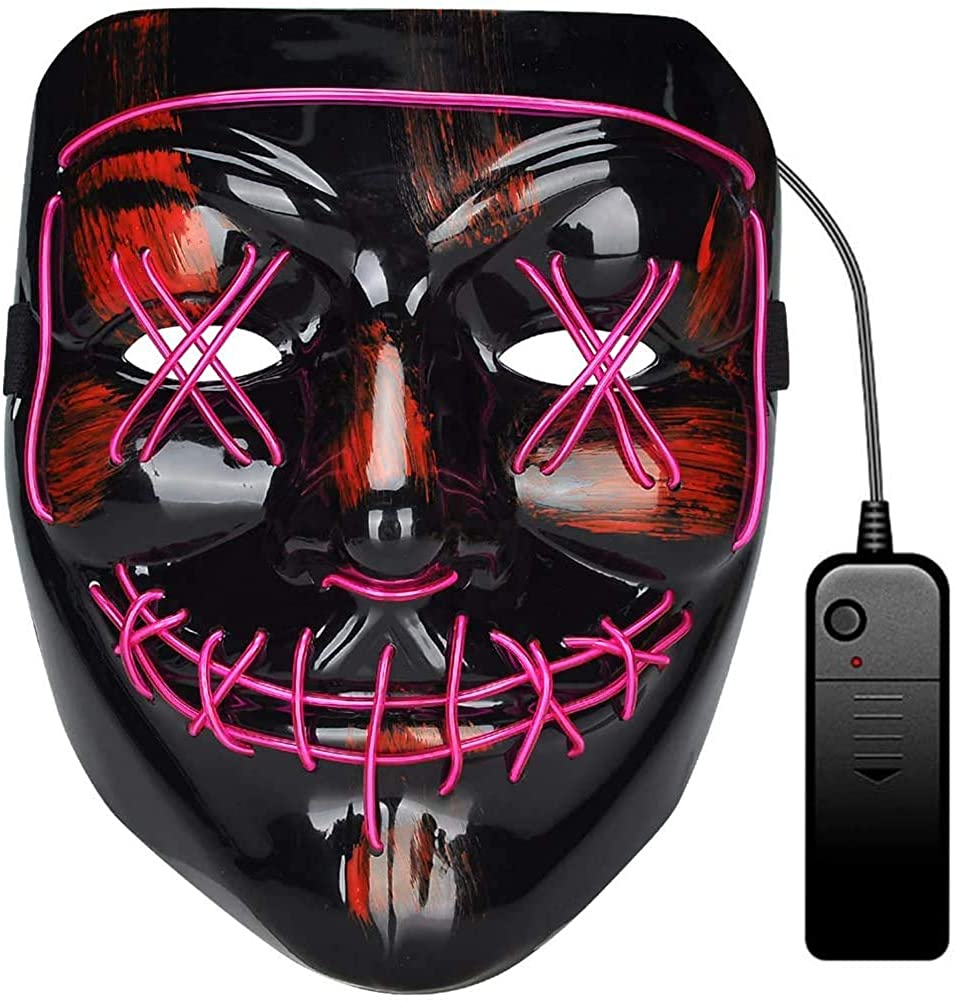 Mentrion Max 65% OFF overseas Halloween Mask and Props Light-up Masks Stable Costume