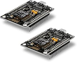 2pcs ESP8266 NodeMCU LUA CH340 ESP-12E WiFi Internet Development Board Flash Serial Wireless Module for Arduino IDE/Micropython New Version