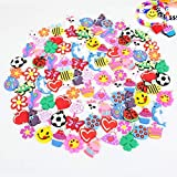 PARK AVE 100 Silicone Charms - Variety Pack - Compatible with All Common Bracelet Rubber B...