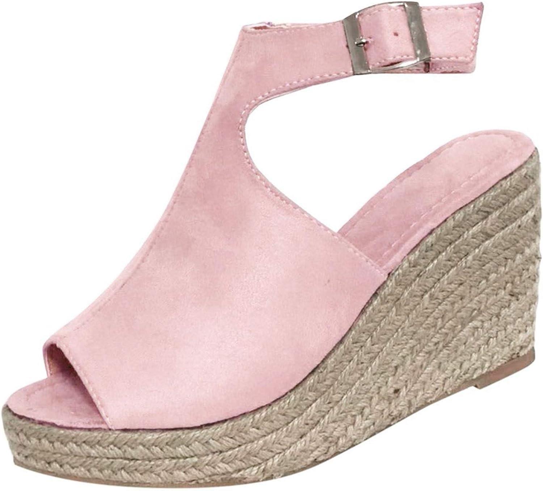 Women's Walking Slides Heels For Women,Wedge Platform Open Toe Roman Shoes High Heel Sandals