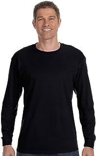 Hanes TAGLESS 6.1 Long Sleeve T-Shirt, XL-Black