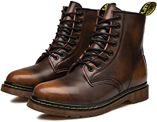 Bitifang Men's Industrial & Construction Boots Western Fashion Toe Work Chelsea Hiking Shoes