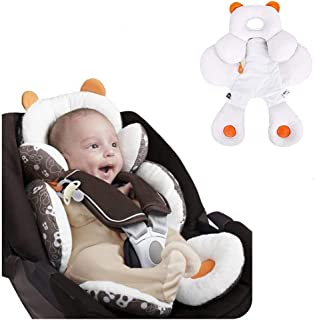 StoHua Infant Head Body Support with Organic Cotton, Newborn Baby Stroller Car Seat Insert, 2-in-1 Reversible, Used in Bassinet Stroller and Bouncer seat