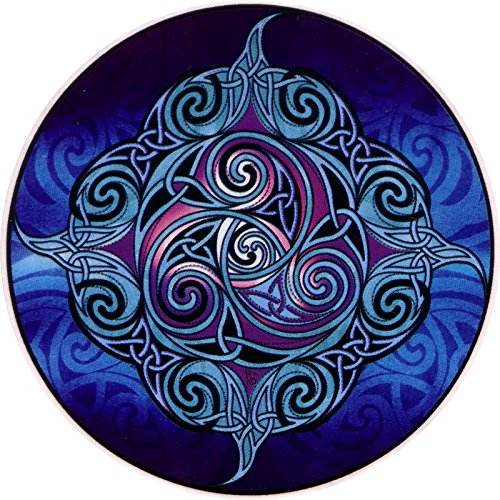 Celtic Art Studio Ceilidh The Dance - Window Sticker/Decal (4.5' X 4.5') Circular Translucent