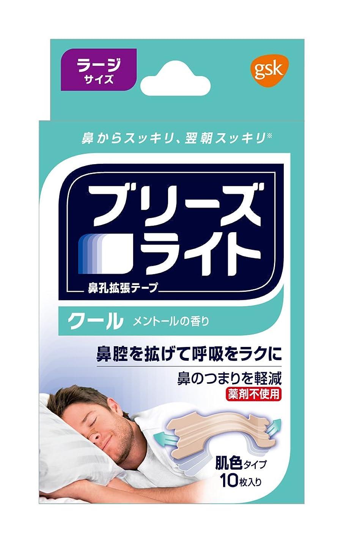 スープ変わる災害ブリーズライト クール 肌色 ラージ 鼻孔拡張テープ 快眠?いびき軽減 10枚入