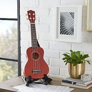 AmazonBasics Soprano Ukulele Bundle with Strings, Tuner, Strap, and Bag - 21-Inch Sapele