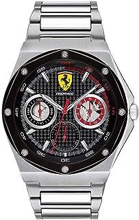 Ferrari Mens Quartz Watch, Chronograph Display and Stainless Steel Strap 830535