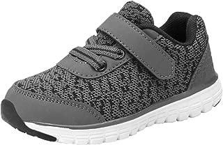 D.SEEK Toddler Hook&Loop Sneakers Little Kid's Boys and Girls Running Sport Shoes