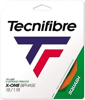 Tecnifibre X-ONE BIPHASE 18G (1.18mm) Squash String 9.7m Set - Orange