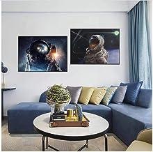Zhaoyangeng Astronaut Muurkunst Poster en Prints Cosmic Planet Canvas Schilderij Scandinavische muurschilderingen voor woo...