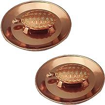 "Divya Mantra Feng Shui Pure Copper 2"" Tortoise/Turtle with 3.5"" Diameter Water Plate; Vastu Living Positivity, Wealth, Mon..."