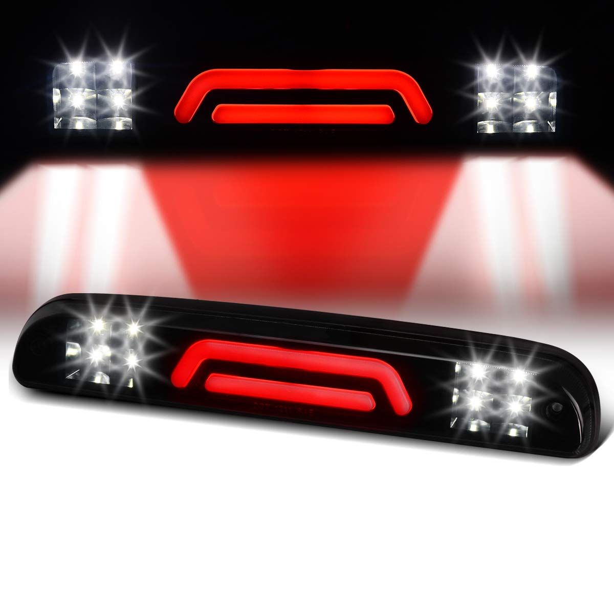 Ford Ranger 1993-2011 Tail Cargo Lamps 3D LED BAR High Mount 3rd Third Brake Light Waterproof Replacement For Ford F-250 F-350 F-450 F-550 Super Duty 1999-2016